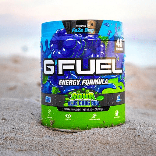 GFuel G Fuel Sour Blue Chug Rug Tub Gamers energy