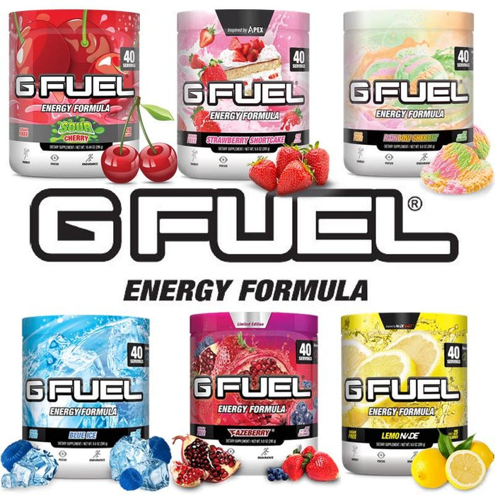 GFuel GFuel Sour Cherry Tub Gamers energy