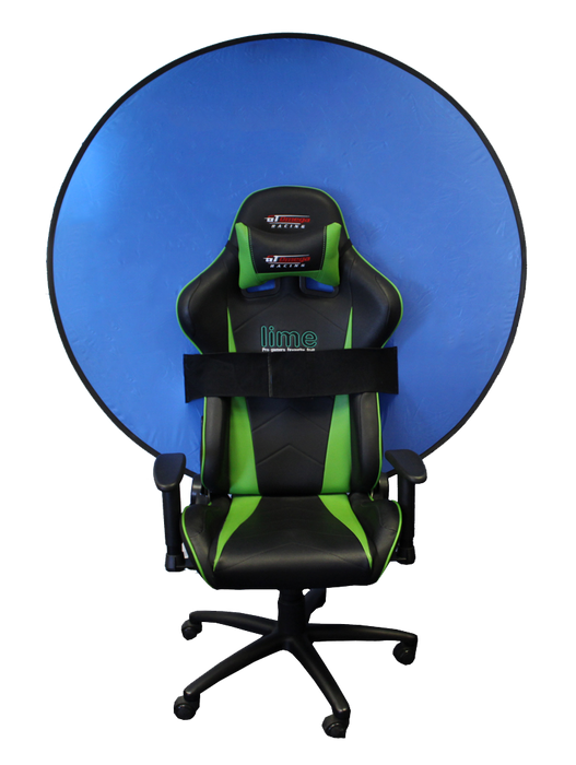 Webaround Webaround Green Screen/Privacy screen - (Perfect for Streamers!) The Ocean Blue - 52""
