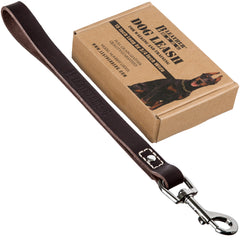"12"" Short Leather Leash"