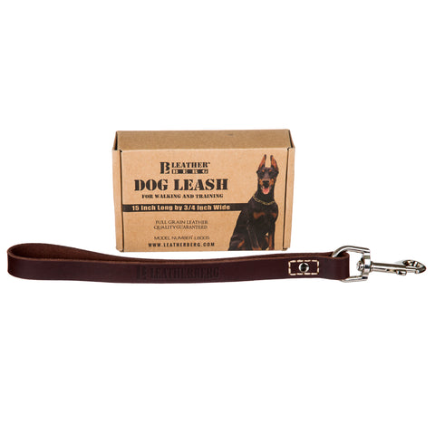 "Leatherberg® 12"" Short Leather Leash"