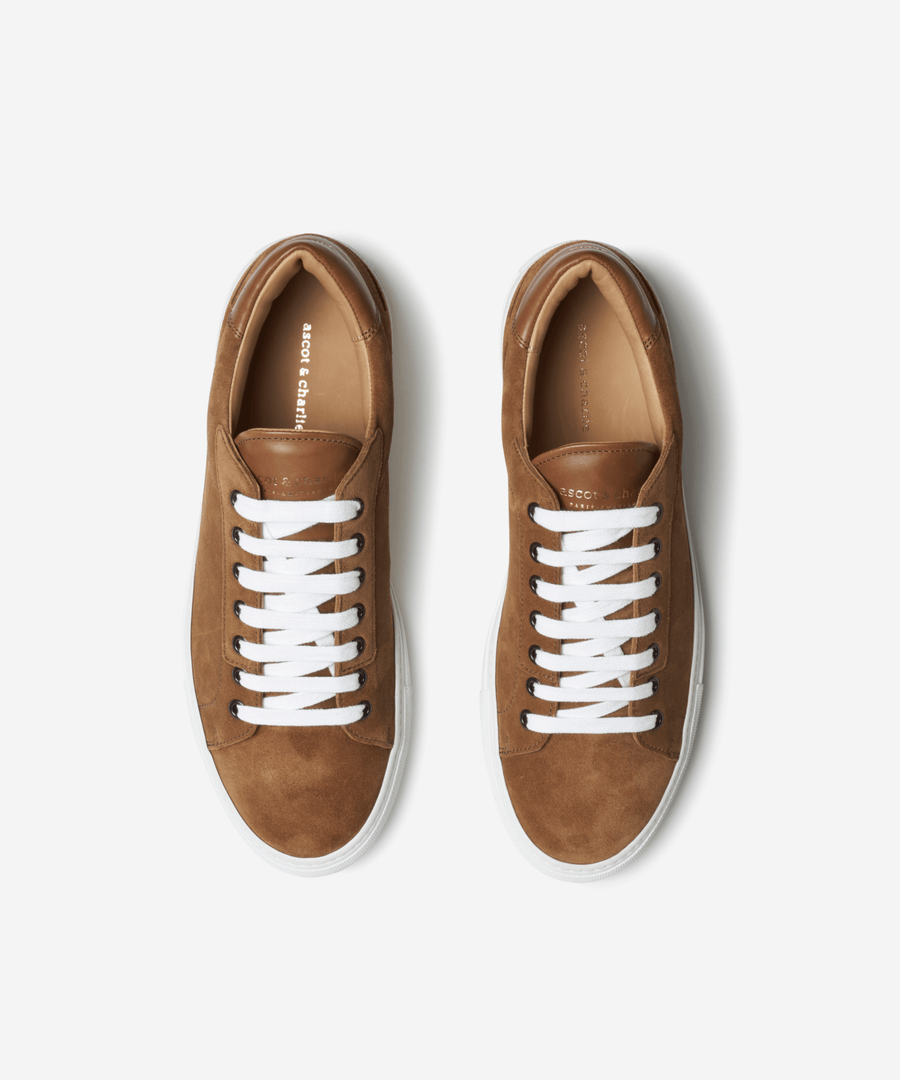 Lione Low Top Sneakers - Tan Suede - Ascot & Charlie