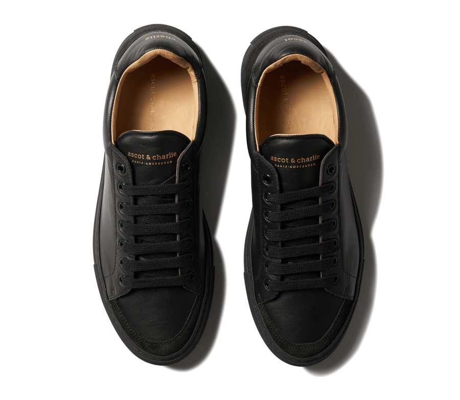 Low Top Sneakers - Deep Black - Ascot & Charlie