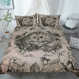FaceOff Skull Duvet Cover