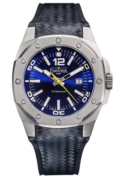 Davosa Titanium 46mm Blue 10 ATM Automatic 16156045