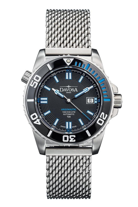 Argonautic Lumis 42mm Black/Blue 300m Diver 16152040 * TRITIUM *