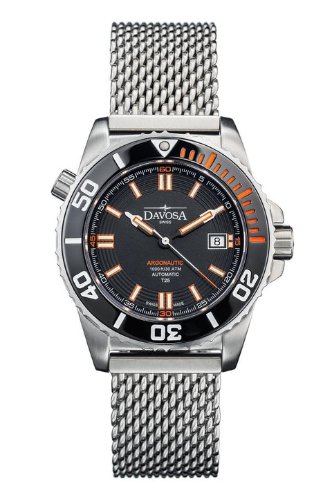 Argonautic Lumis 42mm Black/Orange 300m Diver 16152060 * TRITIUM *