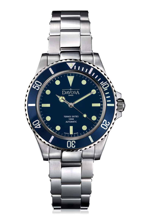 Ternos Sixties blue 40mm automatic 100m diver 16152540