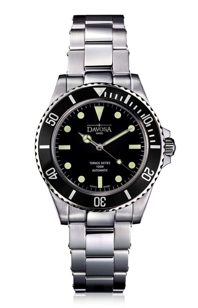 Ternos Sixties black 40mm automatic 100m diver 16152550