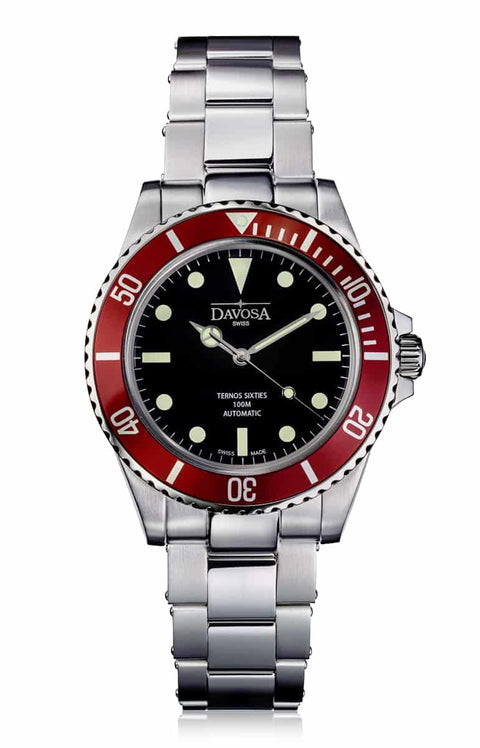 Ternos Sixties burgundy 40mm automatic 100m diver 16152650
