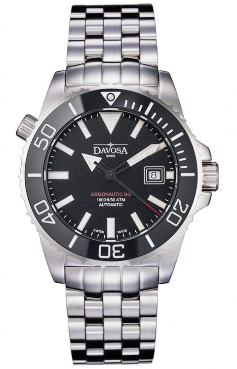 Davosa Swiss Argonautic BG Men's Wrist Watch Analog Automatic, Black Face
