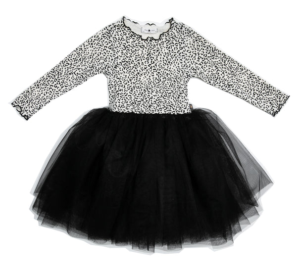 LAINEY SNOW LEOPARD TUTU DRESS