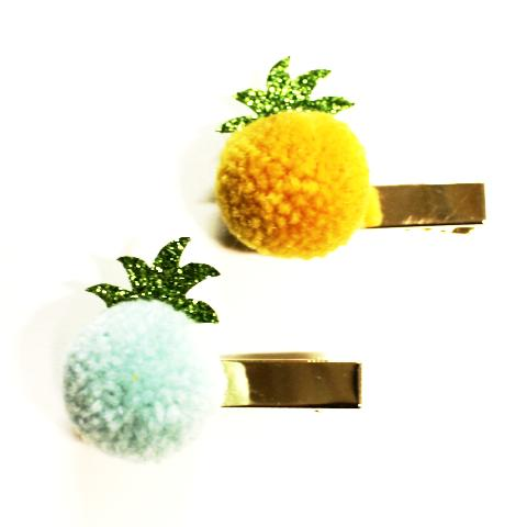 PINEAPPLE GLITTER CLIPS