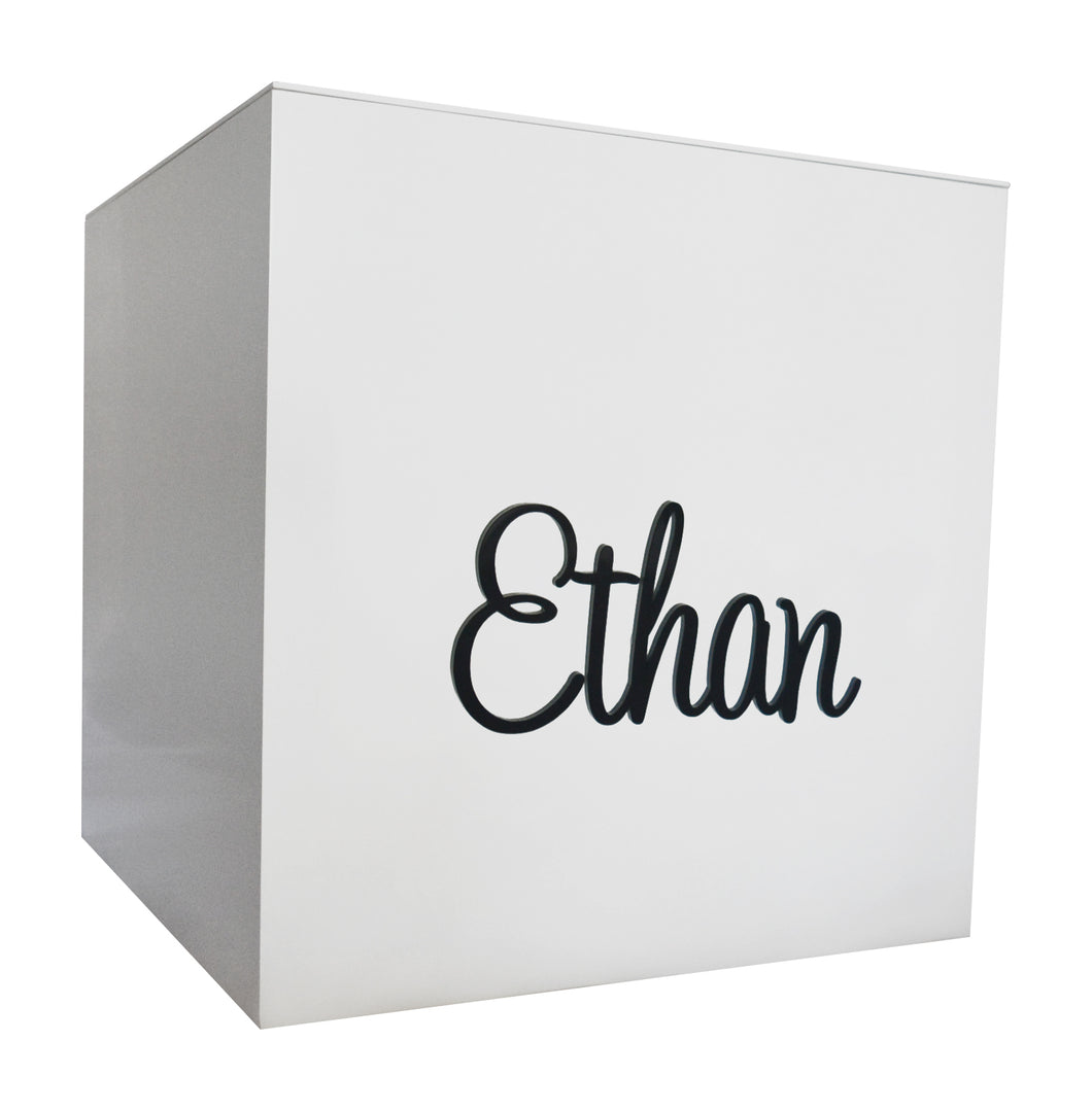 Black Acrylic Personalised Toy Box