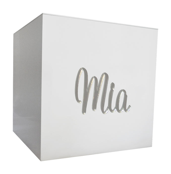 Silver Mirror Personalised Mini Box