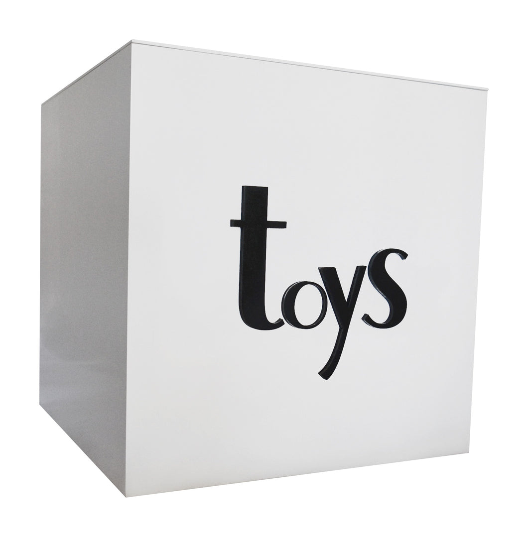 Black Gloss Personalised Toy Box