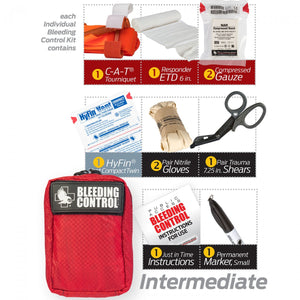 Public Access Individual Bleeding Control Kit- Nylon