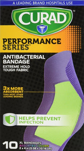 Curad® Performance Series Extra Large Antibacterial Bandage