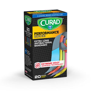 Curad® Performance Series | Antibacterial Bandage .75 IN x 4.75 IN