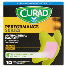 Curad® Performance Series | Knee/Elbow Antibacterial Bandage