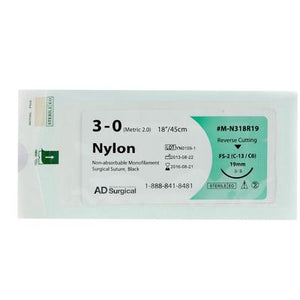 Monofilament Nylon Sutures (Reverse Cutting) 30""