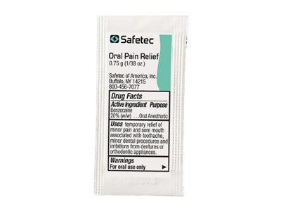 SafeTec Oral Pain Relief Gel