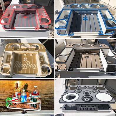 Custom SeaDeck Kit for the Butler, Bar and Table Models - Custom Colors - Boat Names - Builder Logos - This Price Does Not Include a Table or Mount