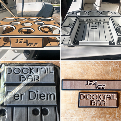 Custom SeaDeck Kit for the Butler, Bar and Table Models - Custom Colors - Boat Names - Builder Logos