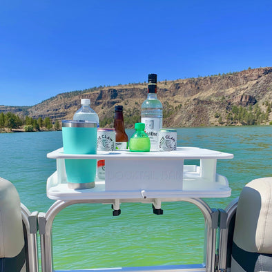 The Docktail Bar with Pontoon Rail Mount