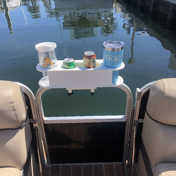 Docktail® Pontoon Boat Cup Holder Caddy