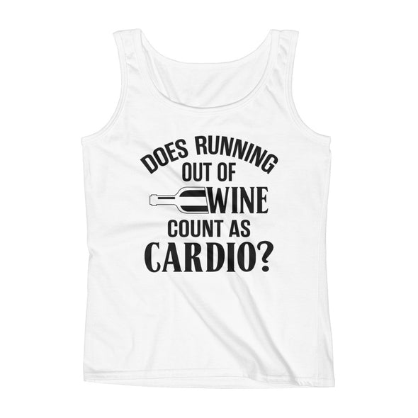 Ladies' Tank - Does Running Out Of Wine Count as Cardio?