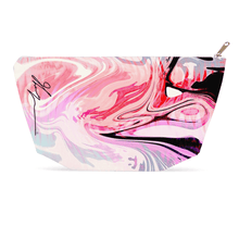 1artTO25 zip-top Cosmetic bag|| LOVE WAVES ||