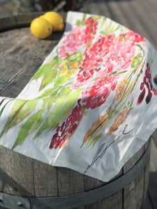 SWEET RASPBERRY | Organic Dish Towel |