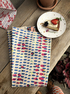 BLUE DOTS | Organic Dish towel |