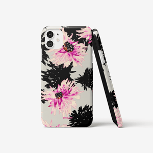 iPhone 11 case || HAPPY BLACK FLOWERS ||