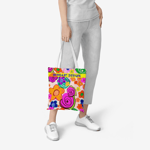 IF YOU EVER LOVE ME || Heavy Duty and Strong Natural Canvas Tote Bags