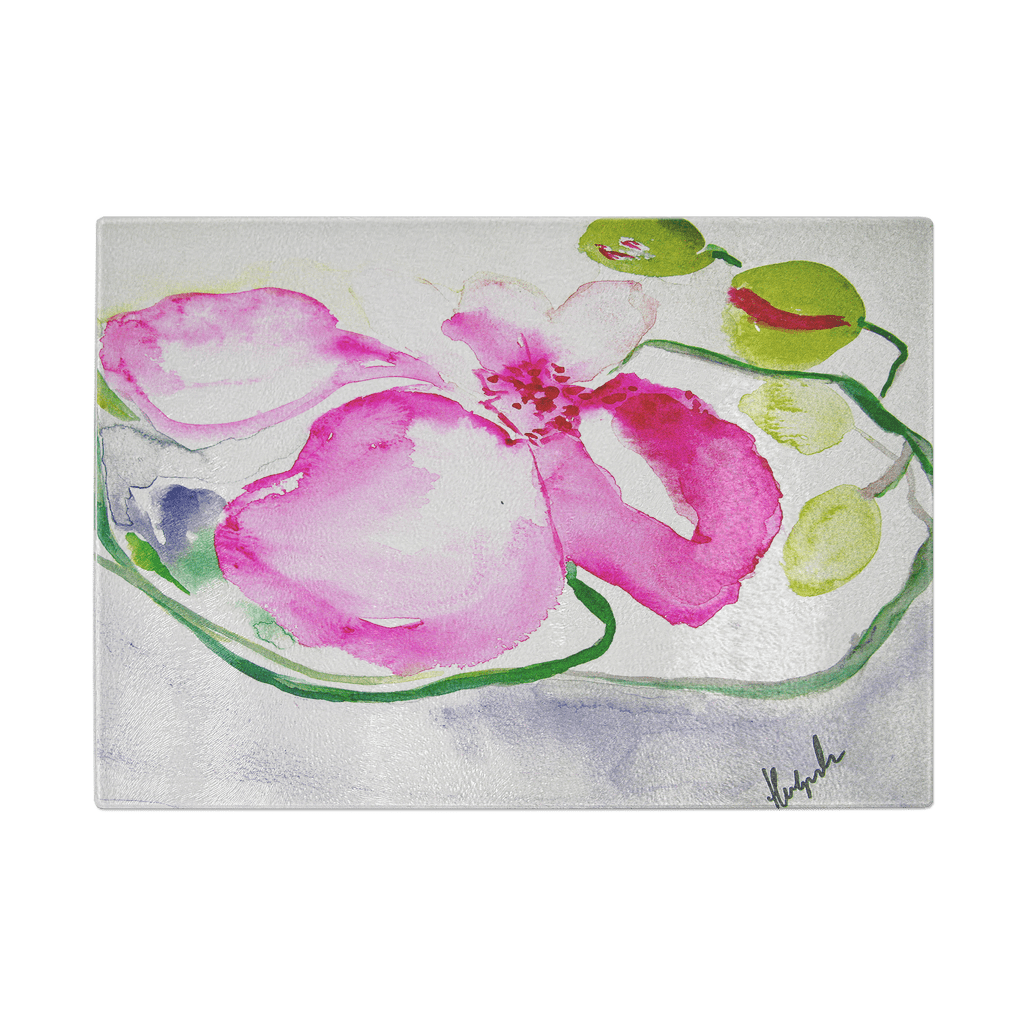 PINK ORCHID | CUTTING BOARD | durable tempered glass