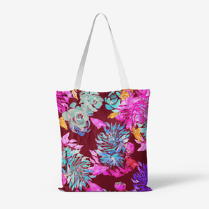 Heavy Duty and Strong Natural Canvas Tote Bags || EXPRESSIV FLOWERS ||