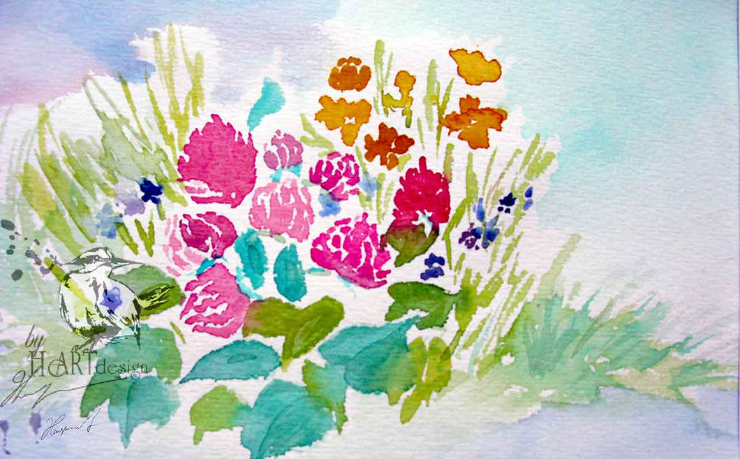 FLORAL ART, THE SWEDISH MEADOW VIEW