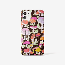 iPhone 11 case ||  MUSHROOMS THE WINTER SUN || BLACK ||