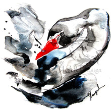 ART BIRDS, THE BLACK SWAN | Byheart Design's Pattern Studio