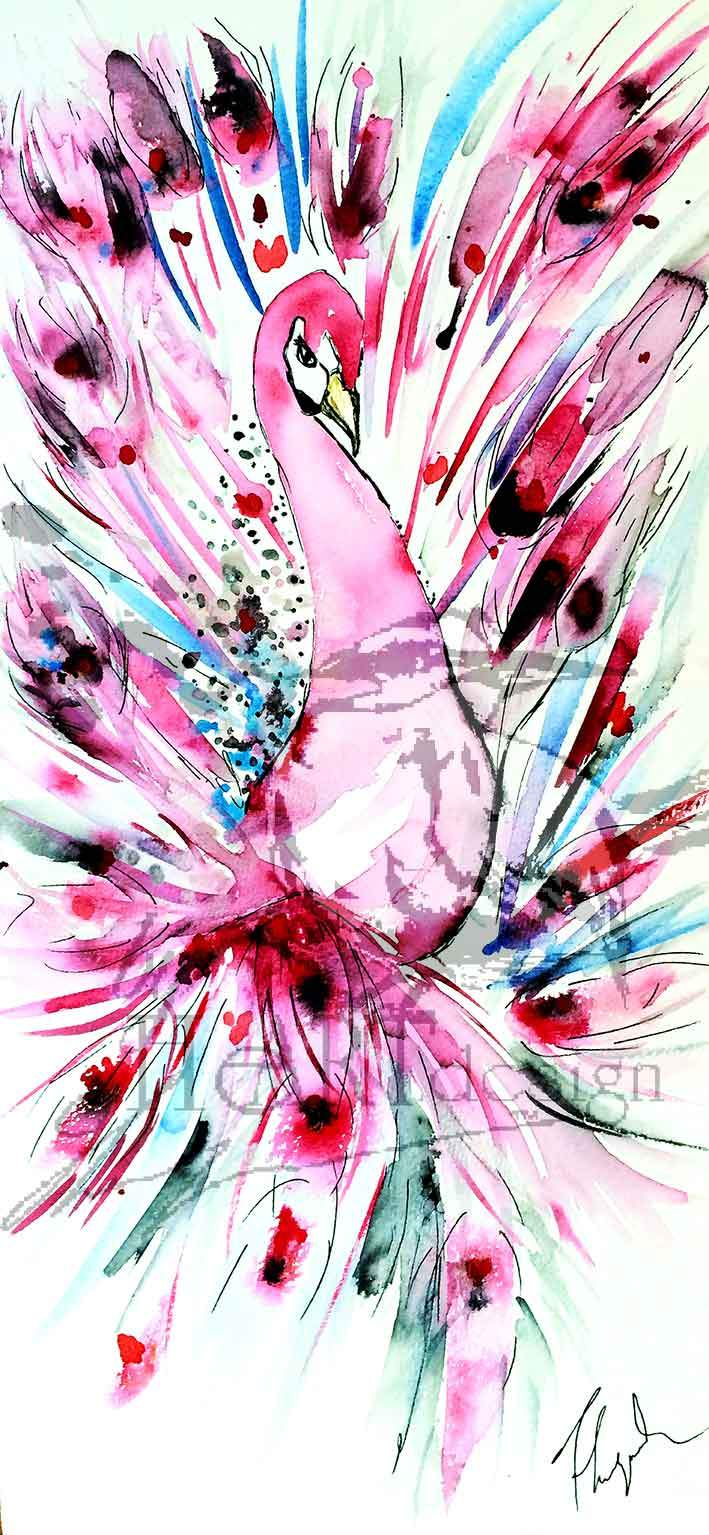 ART BIRDS, MAGIC IS A PINK SURPRISE | Byheart Design's Pattern Studio