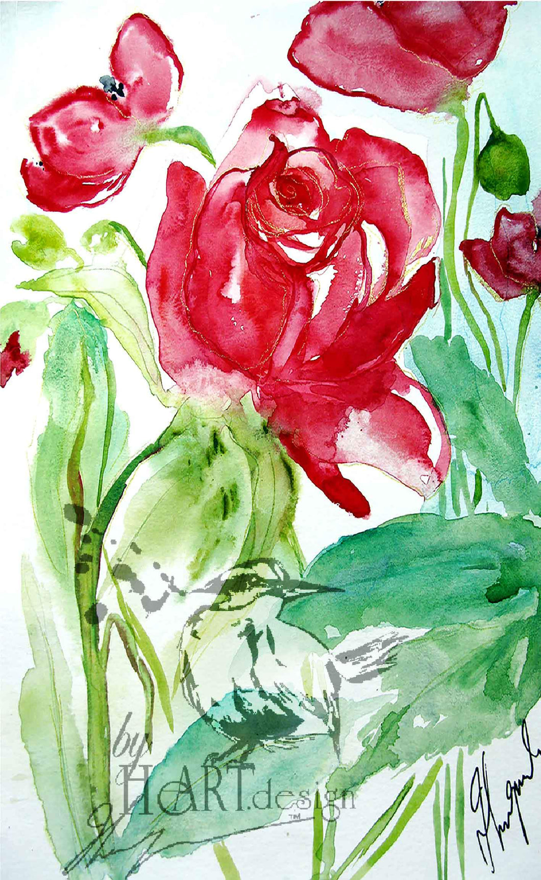 FLORAL ART POWER OF A ROSE