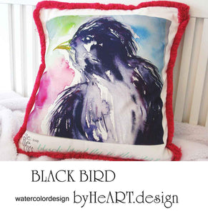 CUSHIONS COVER , THE BLACK BIRD