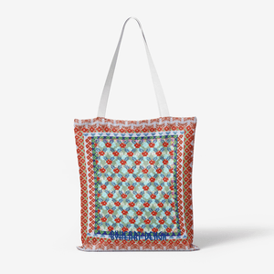 Heavy Duty and Strong Natural Canvas Tote Bags || BLUE BLOMS IN FLOWERS GARDEN ||