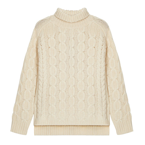 Iggy Lambswool Jumper in Cream