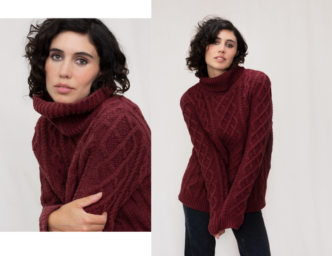 THE BURT LAMBSWOOL ROLL NECK JUMPER