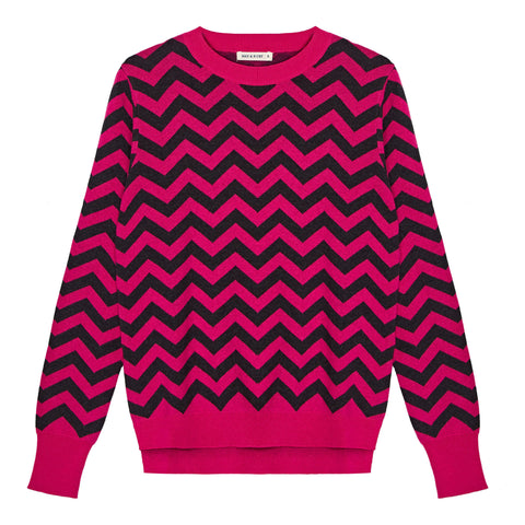 Chevron Crew Neck Jumper