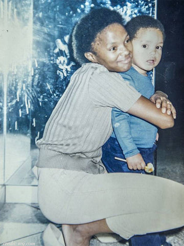 Young Trevor Noah and mum