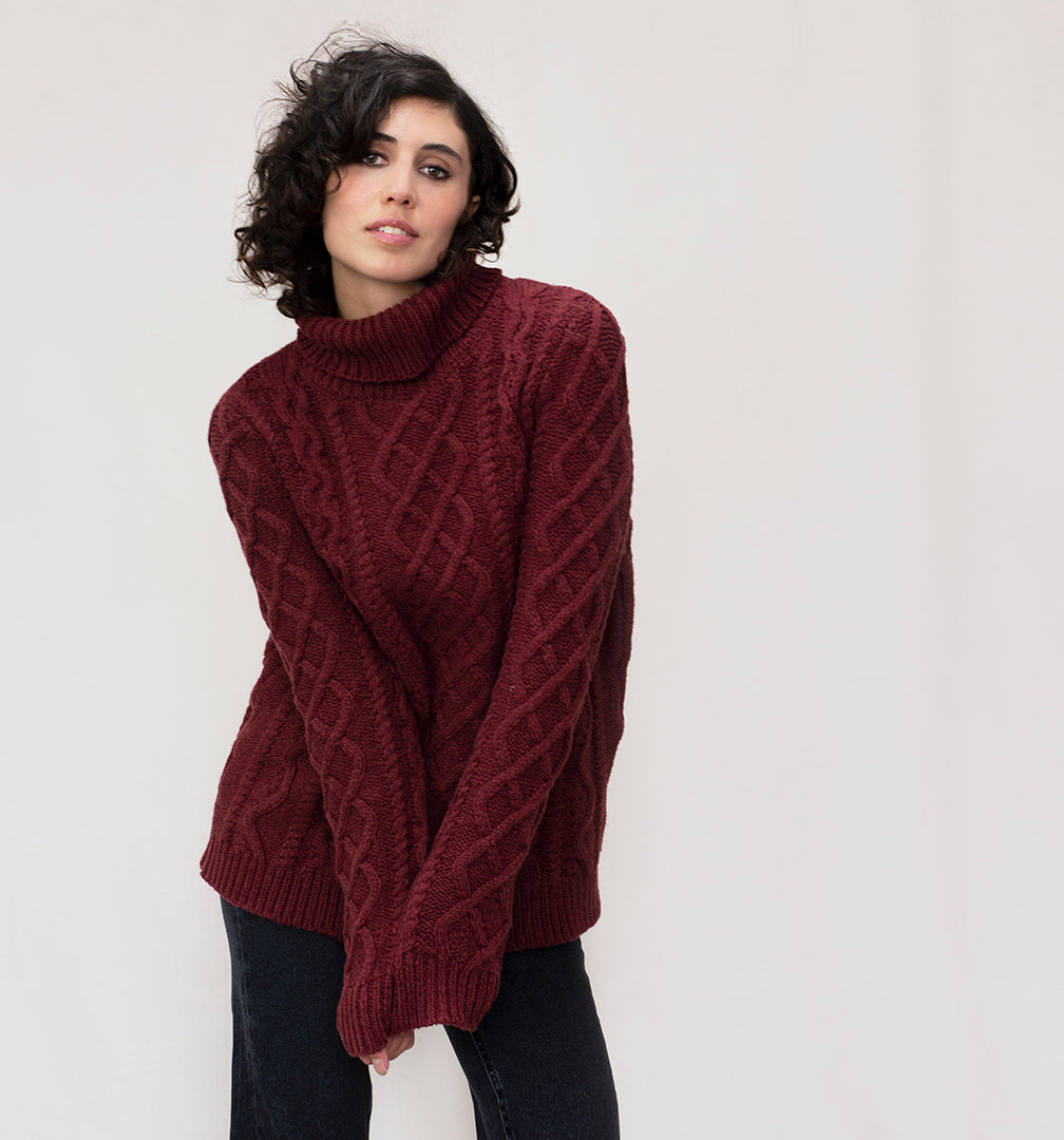 Women's 100% Lambswool Roll Neck Jumper